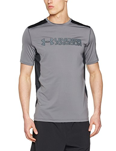 Under Armour Herren Ua Raid Graphic Ss Kurzarm T-Shirt, Grau (Graphite), L (T-shirt Graphic L/s)