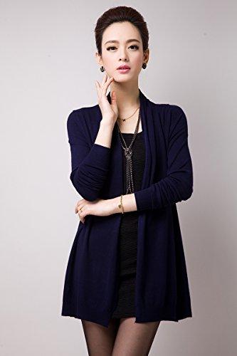 zhili - Gilet - Femme Marron Marron Bleu - Noir foncé