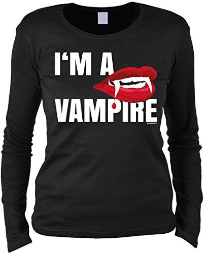 (Grusel Langarmshirt Damen: I´m a Vampire)