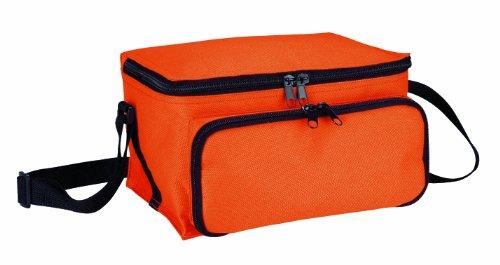 Nevera portátil (asa, 23 x 14 x 21 cm, nylon), color naranja