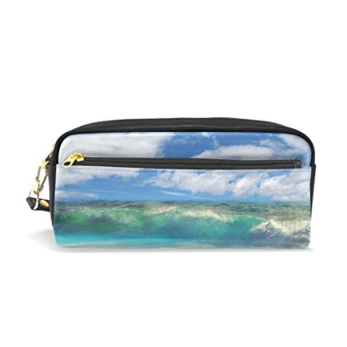Eslifey Costa Rica Strandtasche für Damen, Make-up, PU-Leder, Kosmetik, für Kinder, Schule, tragbar, Stifthalter