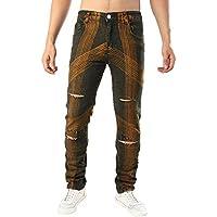 Geili Jeans Hose Herren Lang Jeanshosen Vintage Destroyed Hohl Löchern Denim Hose Basic Hip Hop Hose Slim Fit... preisvergleich bei billige-tabletten.eu