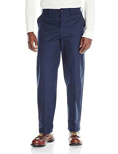 31W x 40L , Navy : Red Kap Men's Wrinkle-Free Regular Fit Twill Blend Work Pants