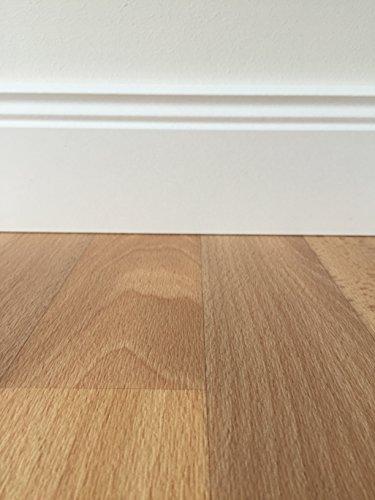 *PVC-Bodenbelag in mediterraner Holzoptik Hell | Muster | Vinylboden versch. Längen & Breiten | Fußbodenheizung geeignet | Strapazierfähiger r Fußboden-Belag für den Wohnbereich | Made in Germany*