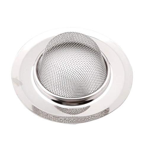 OUNONA Abflusssiebe Edelstahl Runde Duschablauf Abdeckungen für Waschbecken Spüle Badezimmer Küche 9cm (Silber) - Edelstahl Protector Spüle