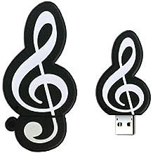 newmore - USB 2.0 Memoria Flash USB PenDrive U Disco Externa Dibujos Forma de Símbolo Música (Símbolo Música-16G)