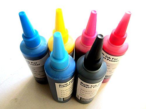 Preisvergleich Produktbild hemei @ 6Flaschen Sublimationstinte für Epson 6Farben T50D314001500W Drucker, Transferpresse Transfer Tinte 6x 100ml