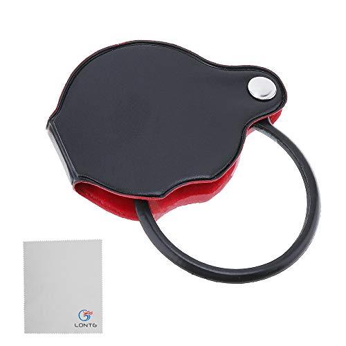 Lupe Taschenlupe 8x Vergrößerung Sehhilfe Vergrößerungglas mit kunstleder Schutzhülle Mini Kratzfest Handlupe 50mm Faltbare Leselupe für Lesen kleine Handwerk Inspektion Briefmarken