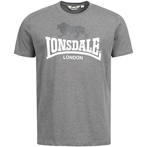 Lonsdale London Herren GARGRAVE T-Shirt, Marl Stone, XXXL -