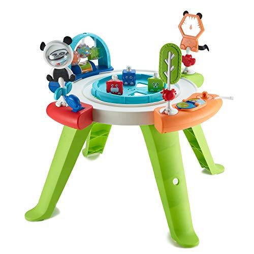 Fisher-Price Mon premier siège d'activités bébé 3-en-1, transformable en table de jeux avec jouets, de la naissance aux premiers pas, GGC60