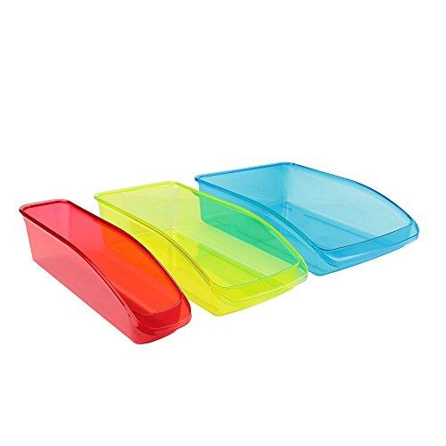 EASY MAKE, KB56193/WEB, bandejas Nevera x 3,plástico Rojo/Verde/Azul, 33x 23x 8cm.