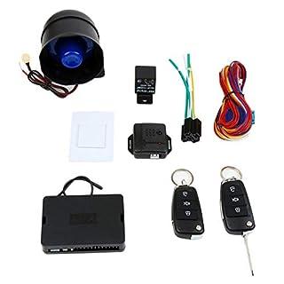 banbie8409 12V Universal Car Alarm System Kit Mute Fahrzeug Diebstahlsicherungen