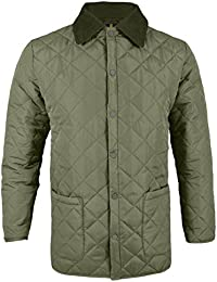 Soul Star Men's Quilt Diamond Quilted Jacket