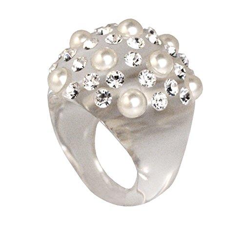 anello-coccinella-bombata-pave-perle