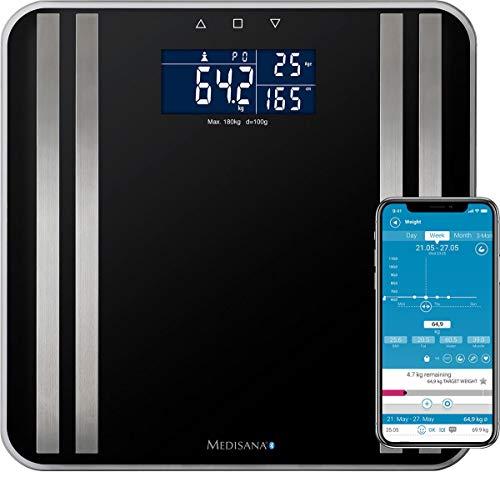 Medisana Analysewaage PR-S90 Wägebereich (max.)=180kg Schwarz Mit Bluetooth