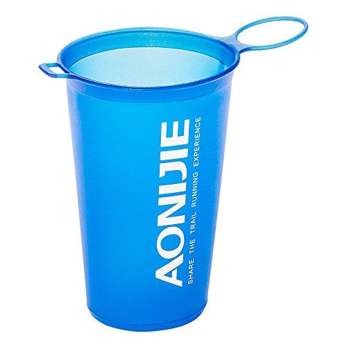 Imagen de lixada aonijie bpa free taza plegable del agua suave para el ciclo al aire libre del maratón de los deportes 200ml