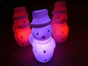 Hat Snowman Colorful Color Small Night Lights Christmas Gifts Creative Activities A Birthday Present