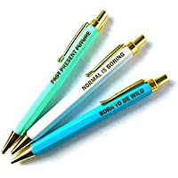 Set de 3bolígrafos Originals, tinta azul–Pen Set, Blue Writing–menta, blanco, azul sobre, acabado dorado