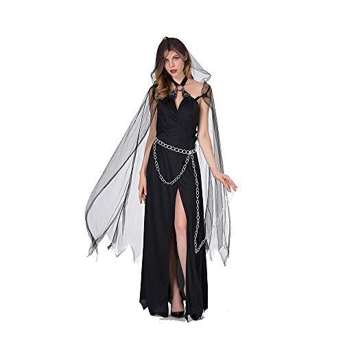 Hexenkostüm Vampir Weibliche Ghost Demon Ghost Cloak Anzug Hexenkostüm Uniform Death Kostüm Kleid