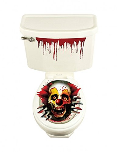 670176 Creepy Carnival Vinyl WC-Grabber Party Set, 61 x 30 CM (Vinyl-halloween-kostüm)