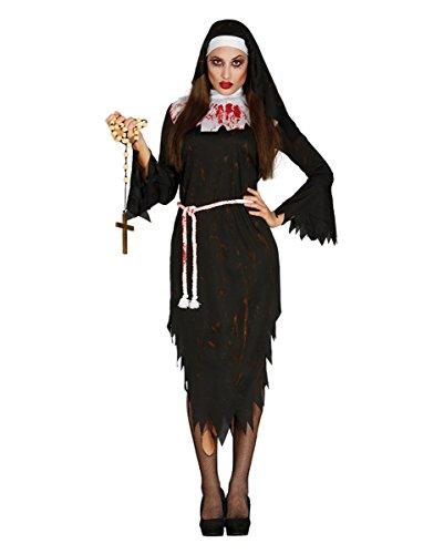 Zombie Klosterschwester Ordensfrau Nonnen Kostüm für Zombie Walks & Halloween One Size (Sexy Nonne Halloween)