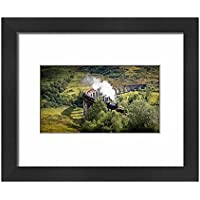 Framed 10x8 Print of Harry Potter Train, Jacobite Express, Glenfinnan Viaduct (14463213)