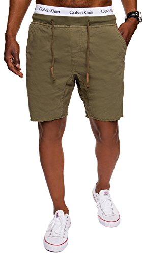 Grün-karo-hose (INDICODE Herren Shorts Carver Destroyed Used Look Cargo Bermuda Kurze Hose Jeans-Shorts Kariert Karo Chino Battlefield Carver 70-049 Grün L)