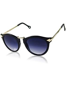 QHGstore La flecha del metal Gafas de sol redondas Moda Gafas NO.2 de las mujeres retras de la vendimia