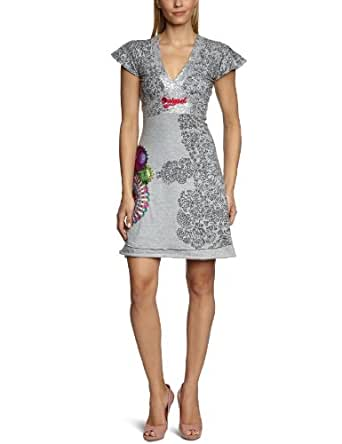desigual robe femme gris 2042 gris vigore claro s v tements et accessoires. Black Bedroom Furniture Sets. Home Design Ideas