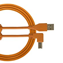 UDG Cable USB 2.0 (A-B) Angled Orange 3M - Audio Optimized UDG Ultimate Audio cable for DJ's and Producers to maximize their performance