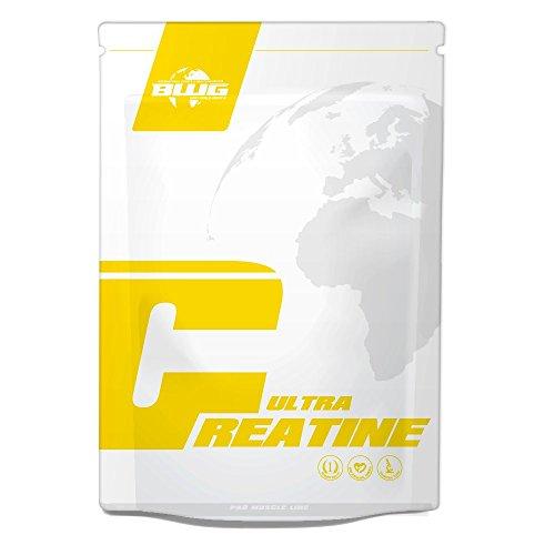 BWG 100% Ultra Creatine Monohydrat Pulver, Premiumqualität, Made in Germany, Muskelaufbau, Vegan, zur Unterstützung für Kraftsport, Bodybuilding, Ausdauer (1 x 1000g Beutel) -
