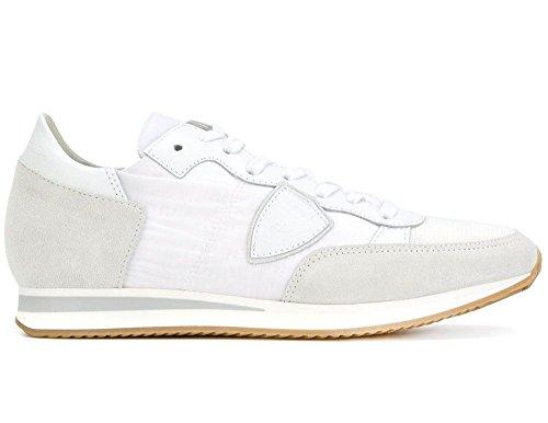 Philippe Model Scarpa Donna Sneaker Mod Tropez in Pelle e Tela Colore Bianco TRLD 1101