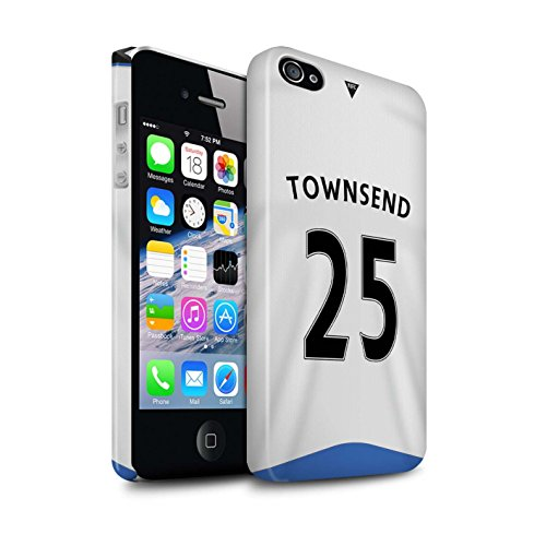 Offiziell Newcastle United FC Hülle / Glanz Snap-On Case für Apple iPhone 4/4S / Pack 29pcs Muster / NUFC Trikot Home 15/16 Kollektion Townsend