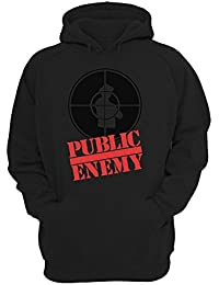 Public Enemy Black And Red Logo Graphic Design Unisex Pullover Hoodie