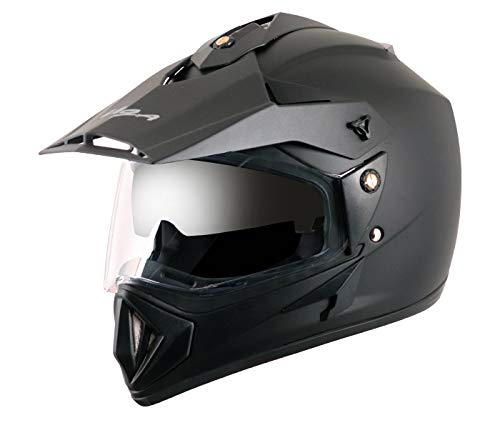 Vega Off Road OR-D/V-DK_M Motocross Helmet (Dull Black, M)