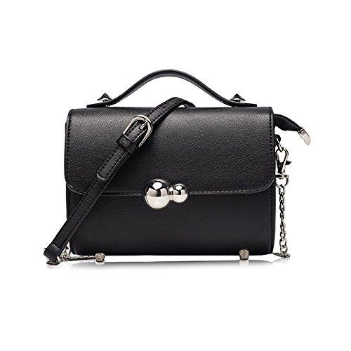 Syknb Einfache Mini - Kette Tasche Ranzen Netzsacks Tragbare Kleine Tasche Black