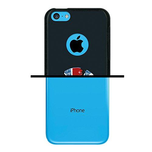iPhone 5C Hülle, WoowCase Handyhülle Silikon für [ iPhone 5C ] Fußball, der den Wand bricht Handytasche Handy Cover Case Schutzhülle Flexible TPU - Schwarz Housse Gel iPhone 5C Schwarze D0192