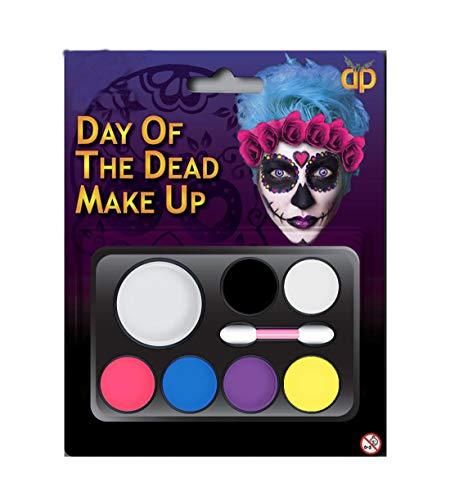 Islander Fashions Hexe Zombie Teufel Vampir Multi Palette Kit Tag der Toten Halloween Make Up Zubeh�r Tag der Toten One Size
