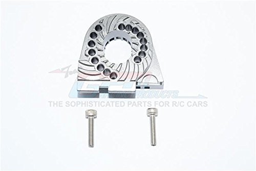 Traxxas TRX-4 Trail Defender Crawler Tuning Teile Aluminium Double Sided Motor Mount Plate With Heat Sink Fins - 1Pc Set Grey Silver
