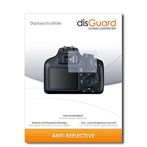 [2 pezzi] canon eos 4000d pellicola protettiva disguard® [anti-reflex] antiriflesso, no reflexion / ultra resistente, anti-bolle, effetto anti-impronte, anti-graffio / protezione schermo, proteggi schermo