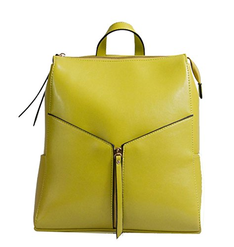 Ms. Cera Di Petrolio Zaino In Pelle Yellow