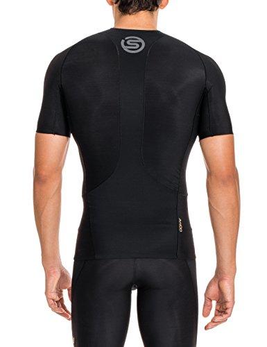 SKINS A400 Mens Short Sleeve Top Black