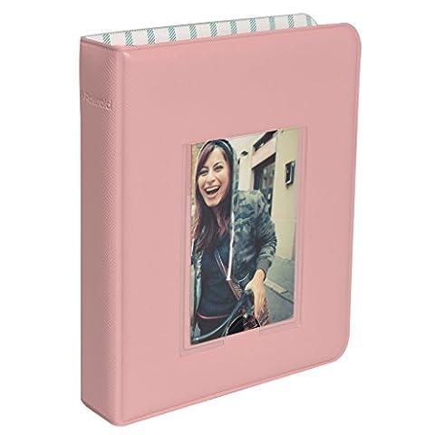 64-Pocket Photo Album w/Window Cover For Kodak Mini Instant Printer Pictures- Pink
