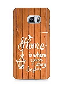 AMEZ home is where your story begins Back Cover For Samsung Galaxy S6 Edge Plus