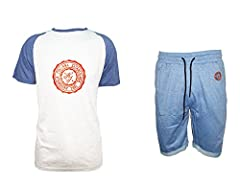 Idea Regalo - completo mare uomo mezza manica e pantaloncino NAZIONALE ITALIANA art. NB0003 (L, bianco)