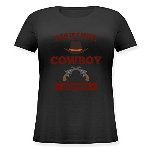 Karneval & Fasching - Das ist Mein Cowboy Kostüm - L (48) - Schwarz - JHK601 - Lockeres Damen-Shirt in großen Größen mit Rundhalsausschnitt