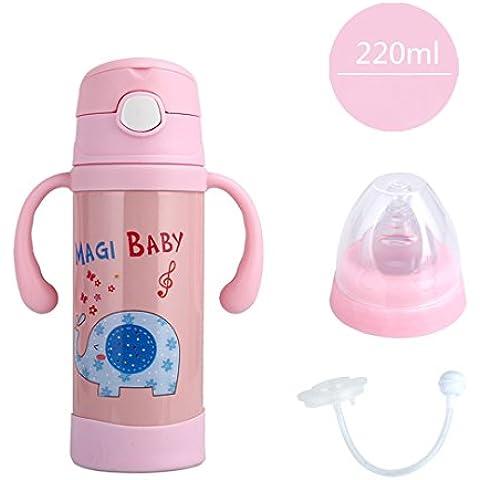 Millya bebé Flask Botella con boquilla multifuncional flujo natural alimentación botella termo de acero inoxidable
