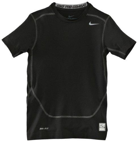 NIKE Jungen kurzarm Shirt Pro Core Compression Black/Cool Grey, XL (Pro Nike Combat T-shirt)