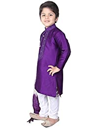 Long Kurta Pyjama Wedding Party Wear Boys Toddler Infant Ethnic Traditional Wear (BOY-9928)