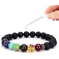 Vitaltyextracts 7 Chakra-Diffusor-Armband für Männer und Frauen, 8 mm, Lavastein, elastisch, Naturstein, Yoga-Perlen... preisvergleich bei billige-tabletten.eu